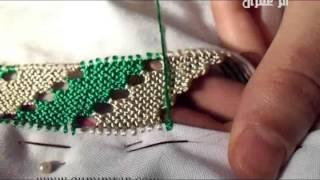 تعليم خياطة الرندة مع أم عمران الدرس السابع عشر embroidery randa