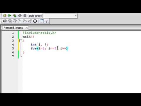 C Programming Tutorial - 39: Nested Loops