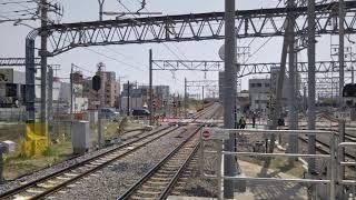 名鉄特急列車知立駅接近『汽笛×2有り』