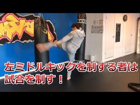 左ミドルキックの蹴り方やコツをK 1ファイターの中澤純氏が解説!