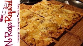 Apple Brie & Onion Flatbread Pizza - Noreciperequired.com