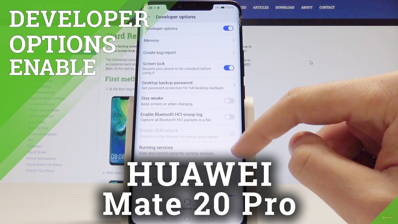 Developer Options HUAWEI Mate 20 Pro - How to Enable USB Debugging