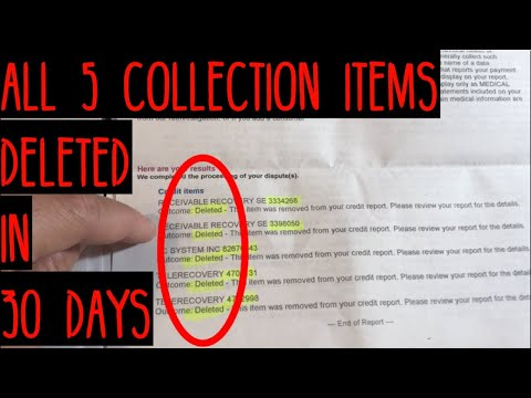 Proof Of Results - 100% Of Derogatory Items Deleted In 30 Days | How To Improve Your Credit Fast