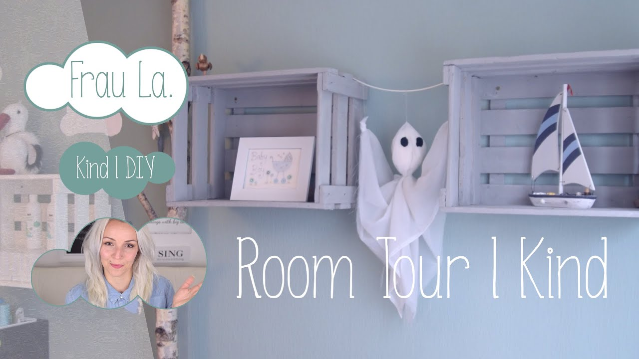 mini kinderzimmer roomtour holzkisten shabby chic birke frau la youtube. Black Bedroom Furniture Sets. Home Design Ideas