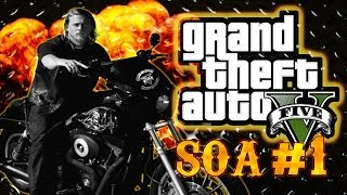 GTA 5 Online: Funny Sons of Anarchy #1 - Capture mode chaos, Crappy hangout, Fails, Funnies