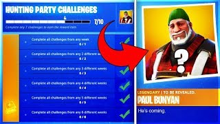 *NEW* HUNTING PARTY SKIN REVEALED!?! (Fortnite: Season 6 Hunting Party Challenges)