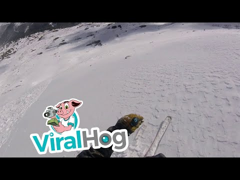 Skier Escapes Early Season Avalanche || ViralHog