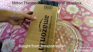 Milton Thermosteel flip lid flask Amazon India Unboxing