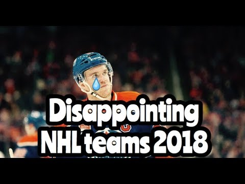 NHL Disappointing Teams 2017-18