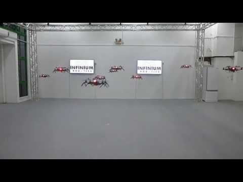 Indoor Multiple Coordinated Autonomous Flying Robots