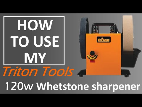 How to use the   Triton 120w Whetstone sharpener
