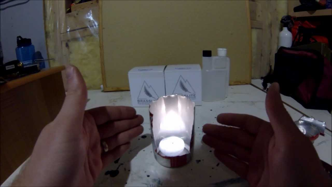 DIY Camping Tea Light Lantern V1 Can Candle Fire