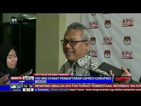 KPU Tolak Perubahan Visi dan Visi Prabowo-Sandiaga Mp3