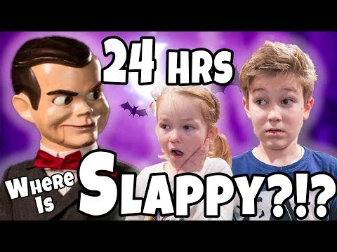 Slappy is Hiding in our house!! 24 Hours To Find Slappy!!