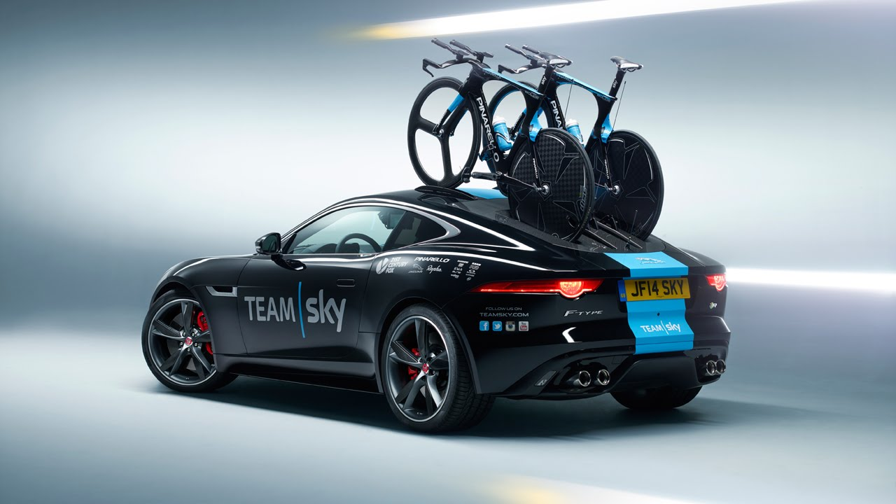 Jaguar Present Team Sky With Concept F Type Time Trial Support Car You