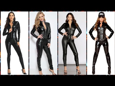 Top Gorgeous And Most Delicate 💖💗Leather Jumpsuits🚶 Outfit Ideas For Women's💕😘