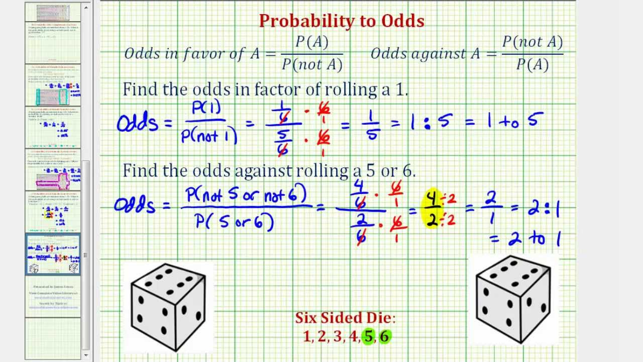 Calculating the Odds of an Event | Mathematics for the