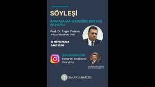 Anayasa Mahkemesine Bireysel Başvuru İkinci Bölüm (instagram canlı yayın)