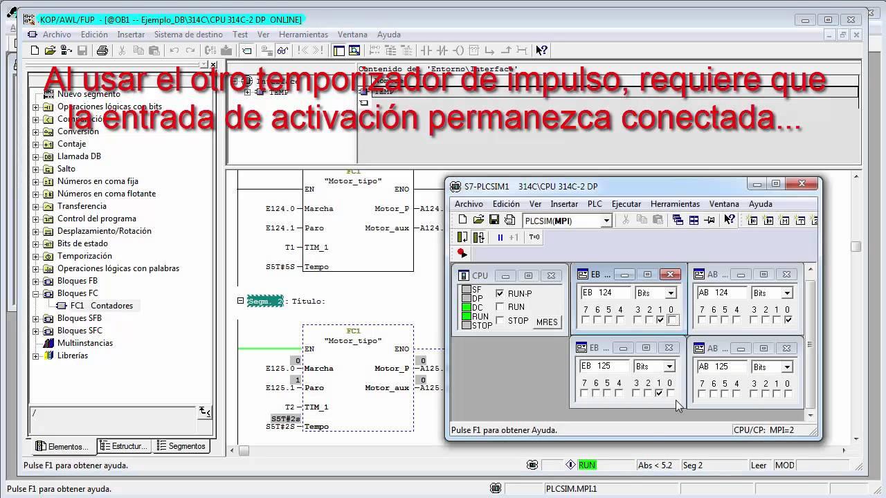 Plantillas FC y FB en Siemens S7-300