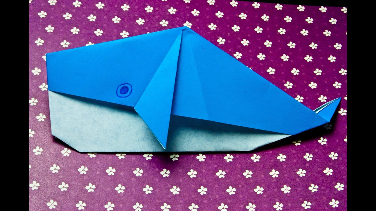 how to make a paper whale origami youtube