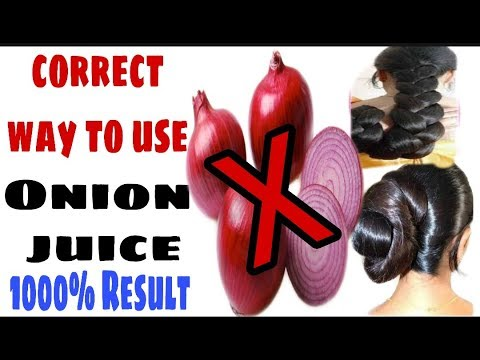 How to use onion juice for hair growth || how to  grow long and thicken hair  with onion