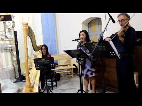 Alleluia Cohen arpa violino e voce
