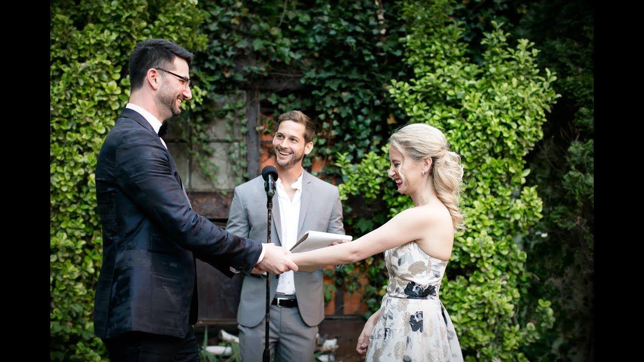 Officiating my first wedding in Brooklyn!