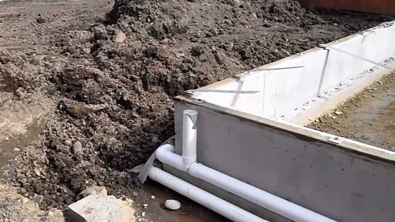Proper Foundation Drainage Inspected By Property Inspector