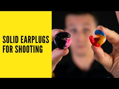 Earplugs For Shooting - Custom Solid Firearm Ear Plugs (2020)