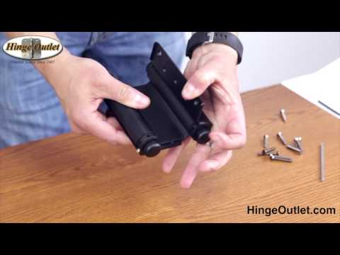 How to Adjust a Double Action Hinge also known as a Saloon Door Hinge