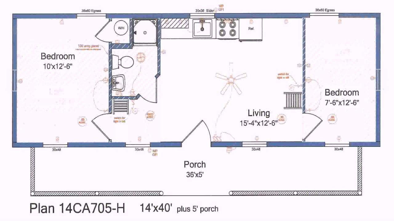 House Plan Design 16x40 - YouTube
