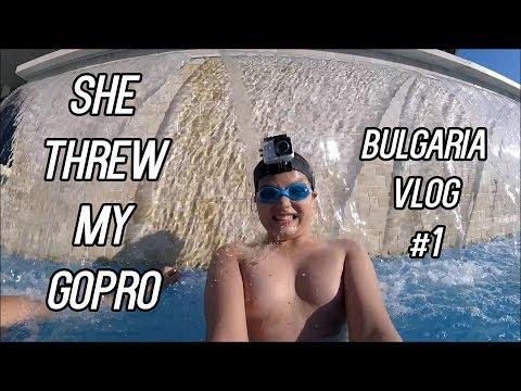 SHE THREW THE GOPRO!!! (Bulgaria Vlog #1)