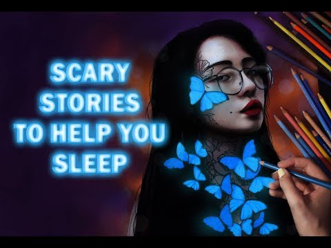 SCARY STORIES TO HELP YOU SLEEP    SPEED DRAWING , RAIN SOUNDS