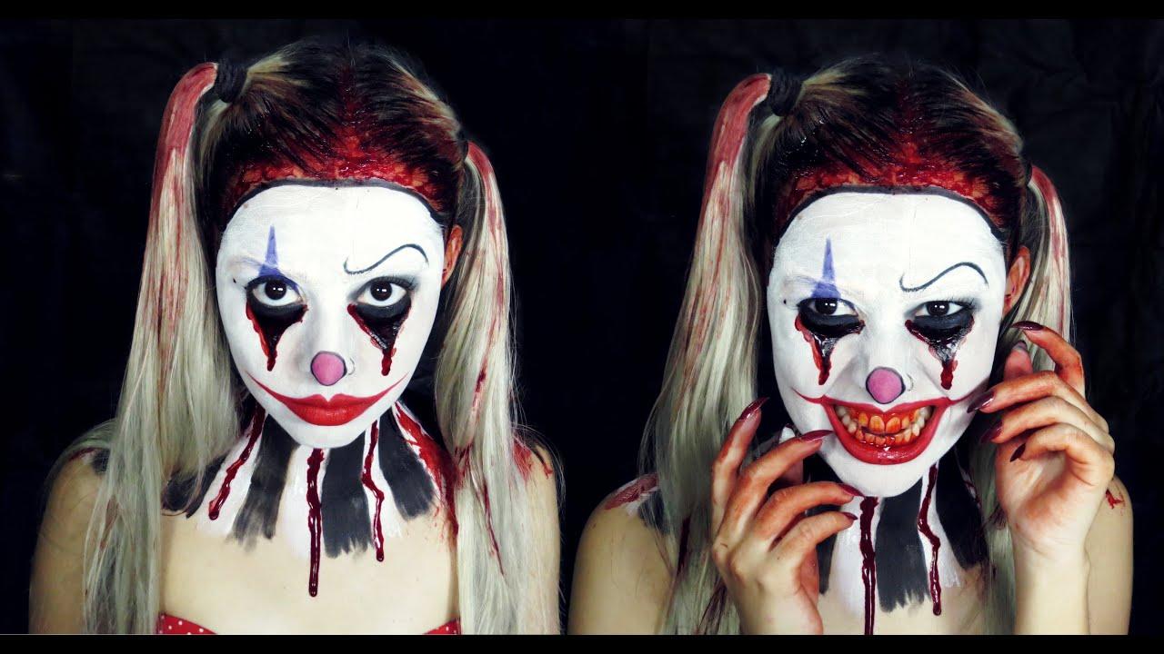 Evil Clown Makeup Tutorial - Palhaço Assasino - Halloween ...