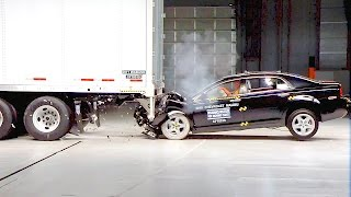 Cars vs Trucks – Trailer Underride Crash Tests [YOUCAR]