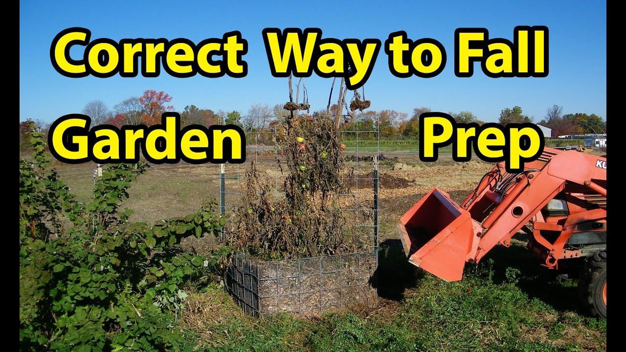 Fall Garden Soil Preparation All Gardens Plus Raised Beds Back To Eden Gardening Method Pt 6