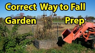 Fall Garden Soil Preparation all Gardens PLUS Raised beds- Back to Eden gardening method. Pt 6