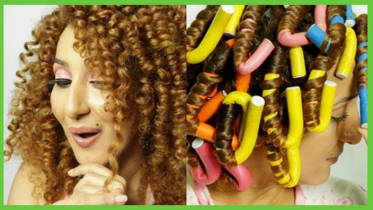 CREA RIZOS DEFINIDOS CON FLEXI RODS. Flexi Rods on Natural Hair. CABELLOS SALUDABLES