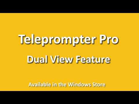 Teleprompter Pro Dual View Youtube