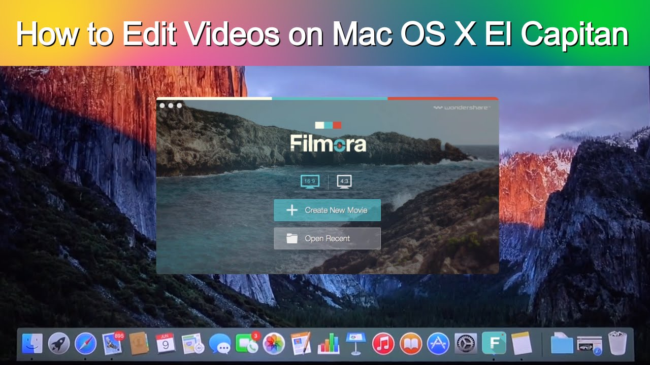 how to edit videos on mac os x el capitan with filmora video editor youtube. Black Bedroom Furniture Sets. Home Design Ideas