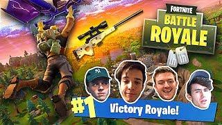 WE GOT OUR FIRST WIN! ft. Makz, Nudah, Shifty & Strobe (SoaR House Fortnite Battle Royale)