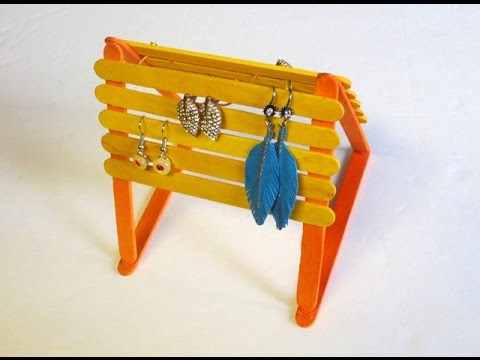 Easy Inexpensive DIY Popsicle Sticks Jewelry Holder YouTube