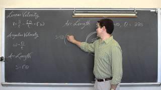 Linear & Angular Speed Part 1