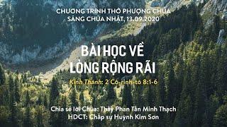 HTTL HÒA MỸ - Chương trình thờ phượng Chúa - 13/09/2020