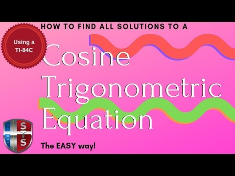 Math Analysis - Trigonometric Equation - Find all solutions - Cosine