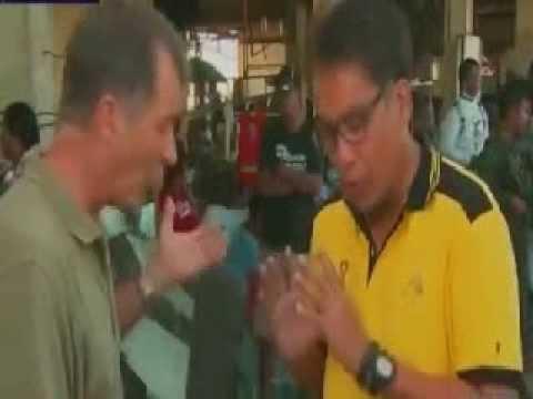 CNNs Anchor Andrew Stevens interviewed Mar Roxas
