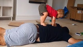 Funny Baby Riding Daddy Like Pony - Funny Baby Video