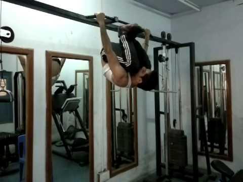 T.I.T. & S. Bhiwani, Hostel Gym - Fitness motivation by GIRISH - Hanging gymnastics 2014 04 29 3246