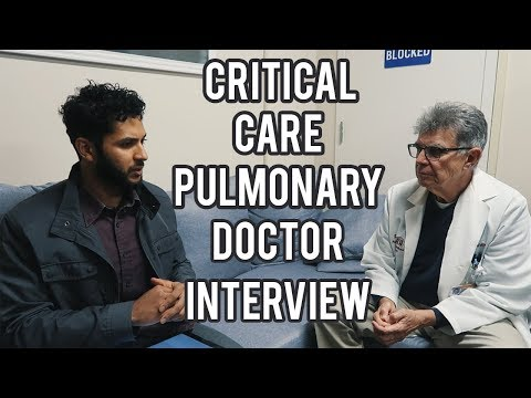 Pulmonary Critical Care Internal Medicine | Lung Doctor Day in the life, residency, money| Interview