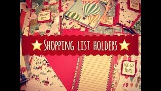 Craft Fair Idea #8:  Shopping List Holders!